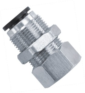 L Type Bulkhead Female Straight BSPP Thread